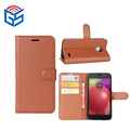 For Motorola E (4th Gen.) For Moto E4 XT1763 XT1766 Leather Flip Wallet Cover Case