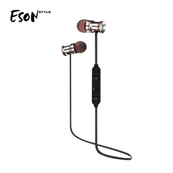 Eson Style New patent Cost Save Wireless Magnetic Bluetooth earbuds portable outdoor sport