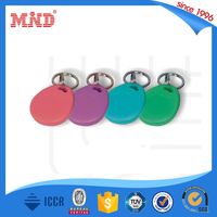 MDK261 detachable NFC leather custom 125Khz RFID key fob /key ring