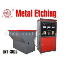 BYT automatic electro zinc plate etching machine signage Metal Etching Machine