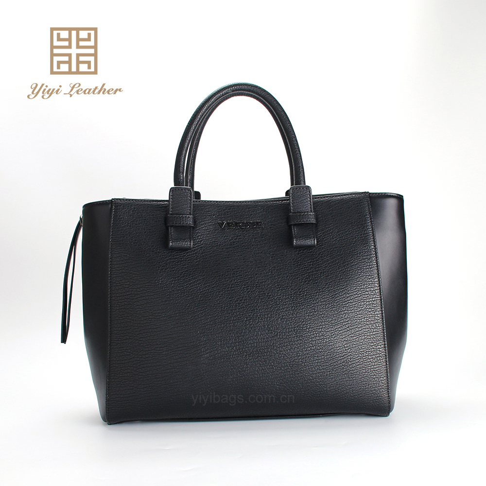 2016 Milan style PU material bag fashion handbags black tote bags