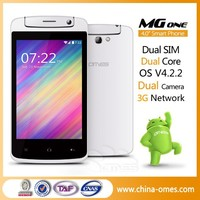 "Multi Color Choice OMES MG1 4"" 4 inch 4inch MTK 6572 Dual Core Andorid 4.4 low price mobile phone"