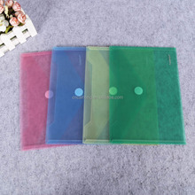 colorful business adhesive button a3 a4 size plastic file folder magic tape clear plastic envelope pp file holder