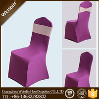 Hot sale outdoor banquet and wedding used wholesale spandex chair cover
