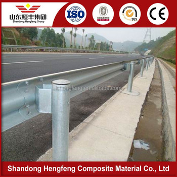 hot dip galvanized highway guardrail used