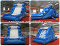 Dolphin figure steep inflatable water slide pool