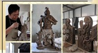 IVON Chinese Architecture palace roof tile Animal Sculptures, Stone Carvings, Stone Sculpture