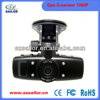 2013 hot! Full HD 1080P Car dvr with gps and G-sensor