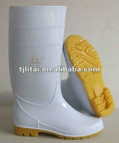 white pvc safety boot for foodstuffs