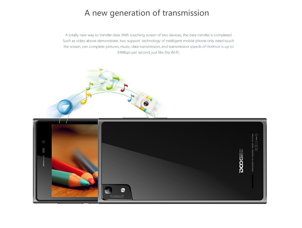 Original Doogee DG900 Tubro2 Smartphone Android 4.4 MTK6592 1.7GHz Octa Core 5 inch 1920X1080 Pixels 2GB/16GB mobile cell phone