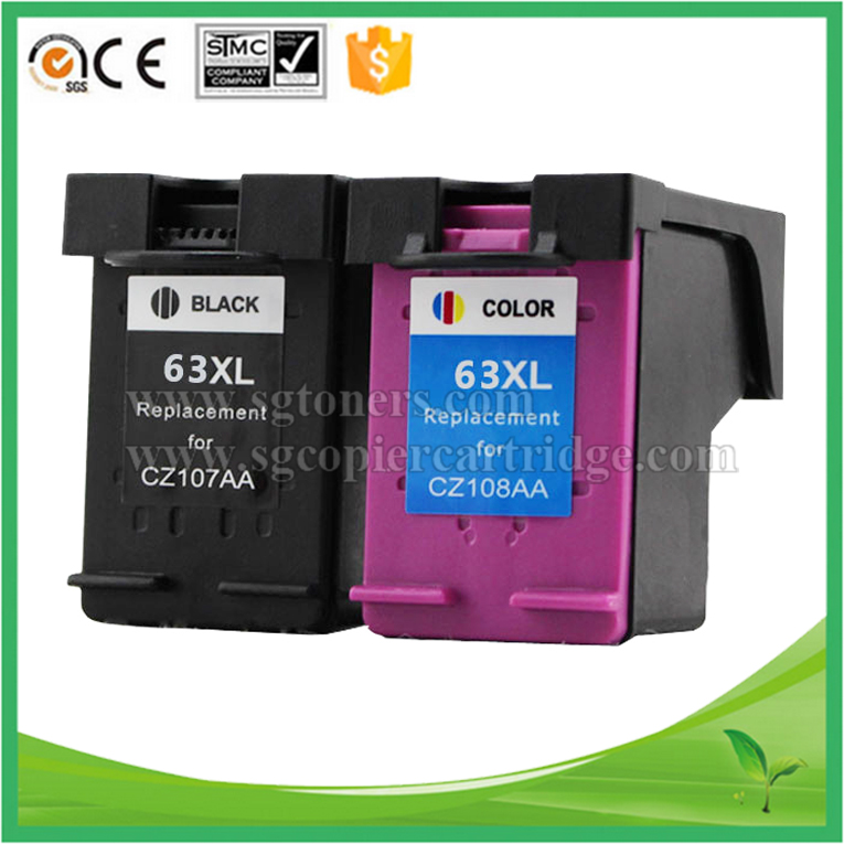 Black &Tri-color Remanufactured 63XL Ink Cartridge