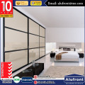 Australia standard aluminium single glazed wardrobe sliding door with grill design