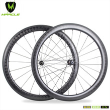 MiracleBike Launch 2018 New Road Bike Clincher Wheelset in 18K Kevlar Carbon Light Weight 1455g 240S Hubs