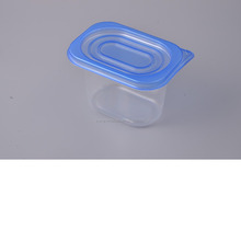Food grade PP material Microwable feezable storage containers plastic with lid blue 818