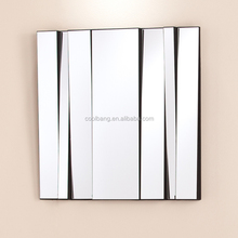 Fashion 3d frameless home decoration wall hanging mirror strips wall