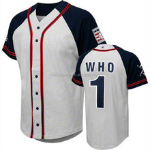 Hot Custom Sublimated Fashionable Full Button Baseball Jersey