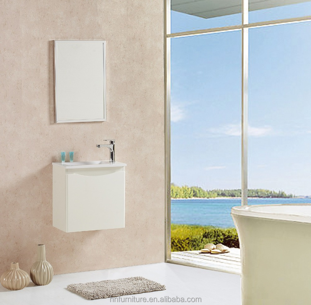 High glossy wall mounted bathroom cabinet
