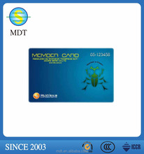 pvc business/gift/scratch/ membership card embossing code surface finish