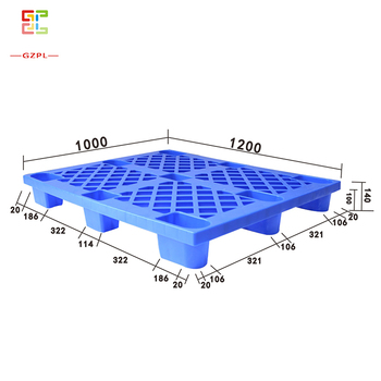 1000*1200*100mm Dynamic 0.7T PP Stackable Euro Grid nine-foot type Plastic Pallets