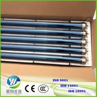 Split Pressurized Evacuated Solar Collector All Glass 3-Target Sola Tubes For Solarboiler Tube