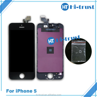 2016 New Wholesale front assembly lcd display, touch screen digitizer for iPhone 5 5G Black & white official color