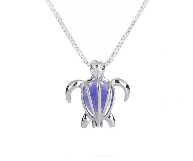 Sea Turtle Aromatherapy Perfume Diffuser Essential Oil Diffusers Pendant <strong>Necklace</strong>