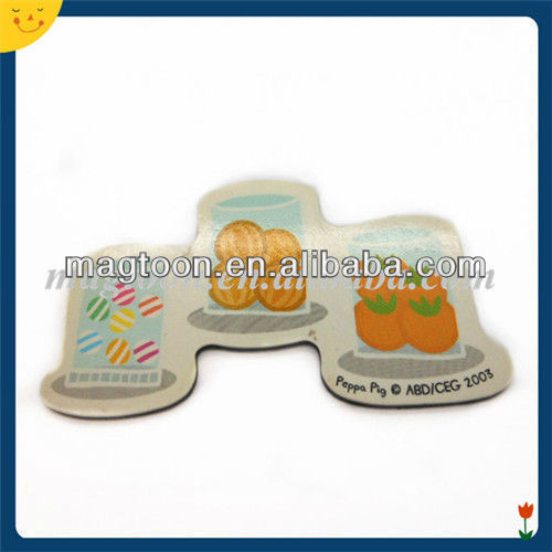 Special shape double side fruit printing PVC fridge magnet
