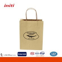 wholesale Recycle Custom Shopping Brown Kraft Paper Bag