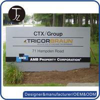 Customized design metal free standing campus monument sign