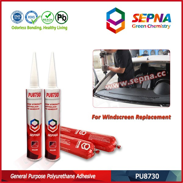 Polyurethane adhesive car windshield rubber auto glass rubber adhesive and seal PU8730 good adhesion with various base materials