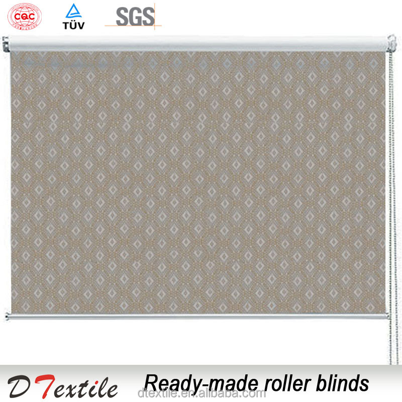 European jacquard white coating blackout home ready roller blinds outdoor window curtain 1305