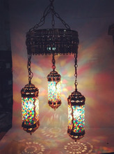 Mosaic glass Turkish style of pendant lamp for hotel decorative