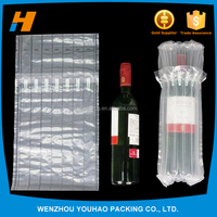 Transport protector PE/PA Material bubble cushion wrap wine bottle air column packaging bag