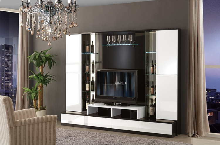 NEW FASHION FURNITURE LIVING ROOM/MODERN DESIGN LIVING ROOM FURNITURE/LCD  TV HALL CABINET ...