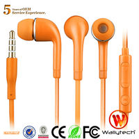 For samsung Galaxy S5 Stereo In ear Earphones with microphne and volume remoter in stock