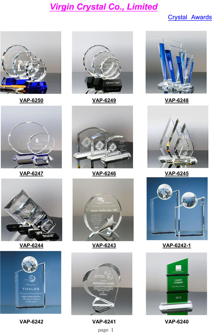 Custom Engraving Glory Flame Awards Crystal