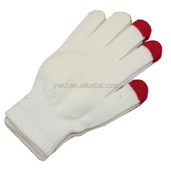 Cute Cheap Winter Knit Student White Gloves Wholesale