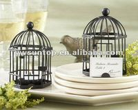 """Love Songs"" Birdcage Tealight place card holder wedding favors"