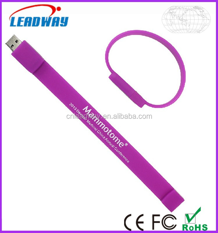 Bulk Purchasing Website Silicone Wristband USB Flash Drive with Printable Promotional Products