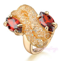 Wholesale ruby new design ladies finger gold ring designs