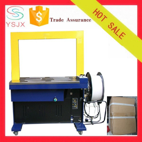 Efficiency mailing carton box strapping machine automatic