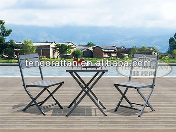 leisure outdoor rattan furniture garden folding table and chair(TG0100T)