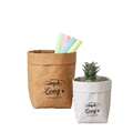 Customized Printed Storage Waterproof washable kraft paper bag
