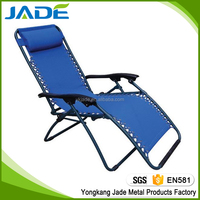 Good quality portable folding reclining beach chair/outdoor lounge chair/sling beach chair for sale