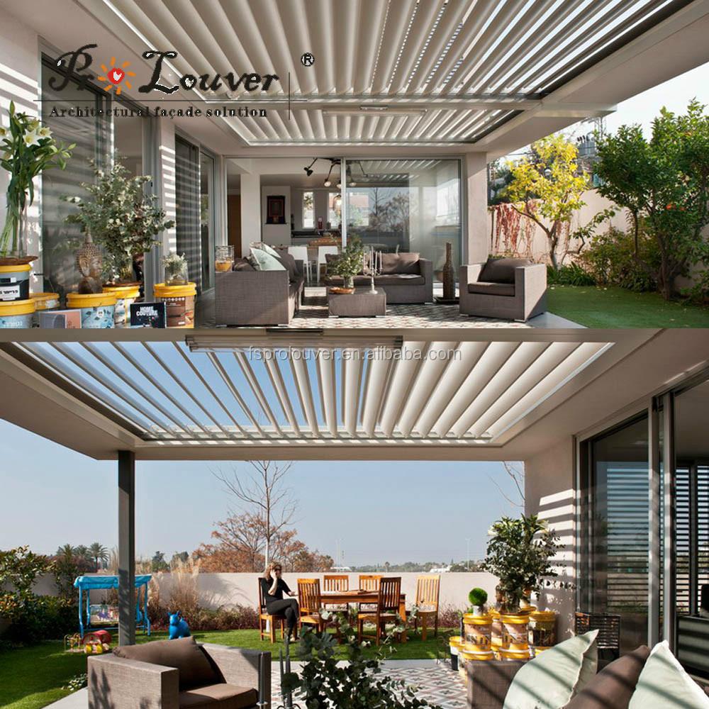 Aluminum Opening Roof Motorized Dynamic Sun Louver