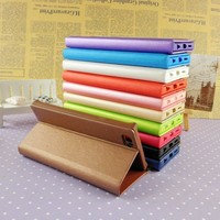 TPU bumper flip phone cover for samsung note 4 3 2 leather flip dustproof phone case for note 4 3 2 wholesale