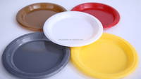 7''/9''/10'' disposable plastic plate with different colour for salad