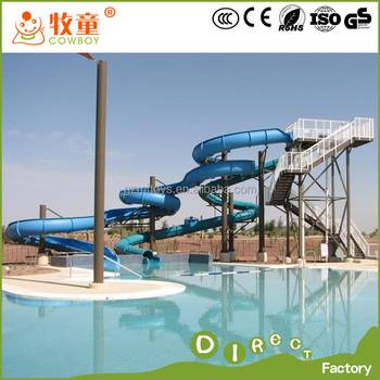 Fiberglass swimming pool water slide buy commercial - Commercial swimming pool water slides ...
