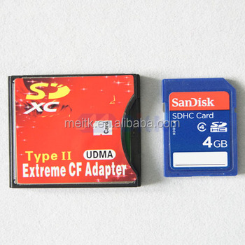 microsd/ micro sdxc to type 2 compact flash card cf reader adapter with high quality