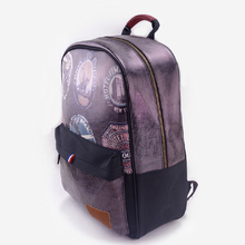 LANGUO women backpack with retro map design model:MGBQ-3063